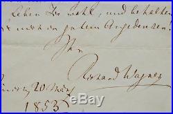 Belle lettre de Wagner citant Tannhäuser et Liszt