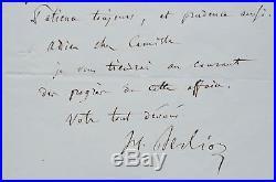 Belle lettre musicale de Berlioz sur l'Orphée de Gluck et Les Troyens