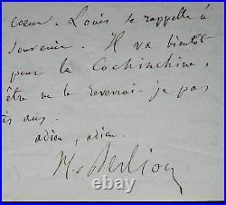 Berlioz pleure la mort de son épouse, Marie Recio