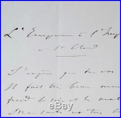 Billet de Napoléon III à Eugénie de Montijo