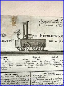 Brevet Armée Révolutionnaire Du Département Du Nord 1793 Révolution