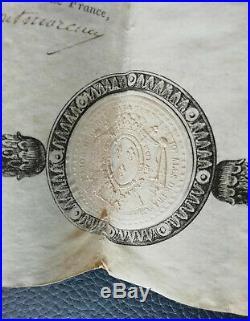 Brevet autorisant le port de la Décoration du Lys -Garde Nationale de Paris 1814