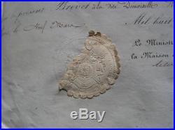 Brevet fleuriste fournisseur de l'imperatrice Eugenie et empereur Napoleon III
