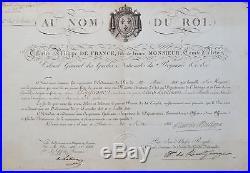 Brevet signé par le futur roi Charles X