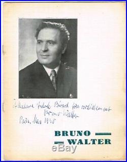 Bruno Walter Chef D'orchestre Compositeur Et Pianiste / Pleyel 1930