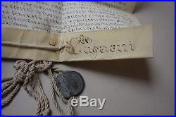 Bulle papale, PIE VII, manuscrit parchemin sceau RARE PAPAL BULL NAPOLEON