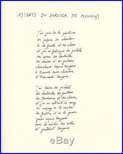 Butor Picasso poème autographe original signé