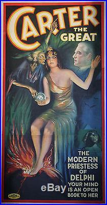 CARTER THE GREAT Affiche originale U. S. Entoilée Litho 1935