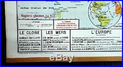CARTE SCOLAIRE GÉOGRAPHIE 120 cm x 100 cm VIDAL LABLACHE N° 322 PLANISPHÈRE