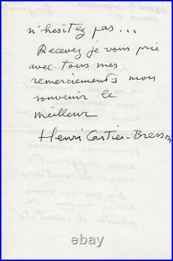 CARTIER-BRESSON (Henri) photographe français (1908-2004)