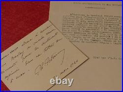 CDV 6 LIGNES AUTOGRAPHES SIGNEES PHILIPPE PETAIN (Marechal Chef d'état) 1920