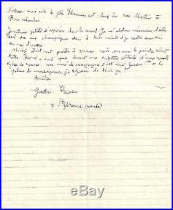 CHAISSAC Gaston (1910-1964), lettre autographe signée