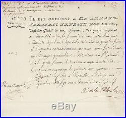 CHARLES X autographe 1777 (Charles-Philippe)