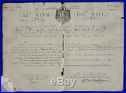 CHARLES X autographe 1817 #2 (Charles-Philippe)