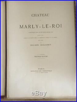 CHATEAU DE MARLY LE ROI 34 planches de gravures GUILLAUMOT