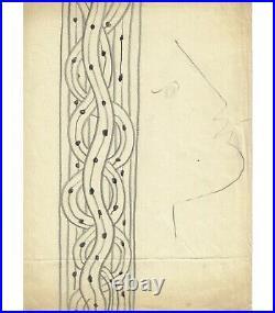 COCTEAU (Jean), à Margaret Brusset, Lettre autographe et dessin original Réf
