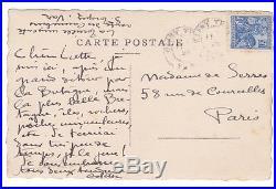 COLETTE Carte postale AUTOGRAPHE signée à la Maîtresse de WILLY