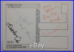COLUCHE / RENAUD / WALTHERY Dédicaces Autographes Signées / Restos du Coeur