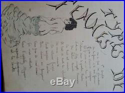 Cahier d un militaire du 4ème Zouave, illustré. Chansons et dessins, 1902
