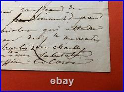 Camille COROT Lettre autographe signée / Barbizon Rousseau