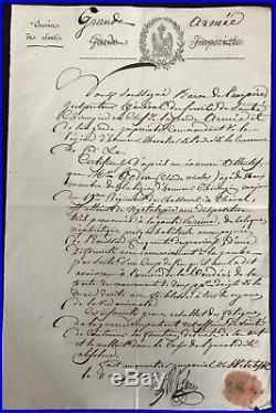 Campagne De Russie (1812) / Document Autographe Du Chirurgien Larrey / Vitbesk