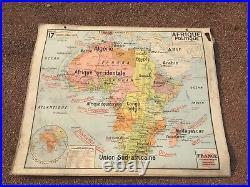 Carte Affiche Scolaire Vidal Lablache Afrique Politique Et Relief Vintage 1960