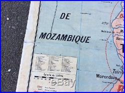 Carte Affiche Scolaire Vidal Lablache Indochine Rare Vintage 1960