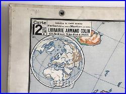 Carte Affiche scolaire Vidal Lablache n°12 Europe Physique