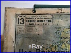 Carte Affiche scolaire Vidal Lablache n°13 Europe politique Mézières avant 1914