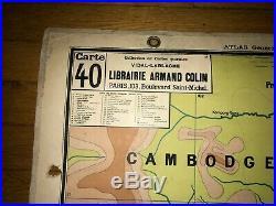 Carte Affiche scolaire Vidal Lablache n°40 Cochinchine
