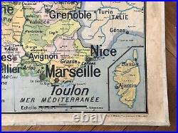 Carte Affiche scolaire Vidal Lablache n°5 France Villes