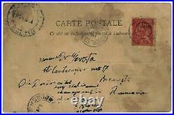 Carte Autographe Signée Constantin Brancusi Tour Saint Jacques Paris 1904