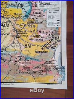 Carte Scolaire Géographie P. Kaeppelin N°3 France Pyrénées Aquitaine