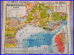 Carte Scolaire Hatier Régions Naturelles de la France Kaeppelin Aquitaine PACA