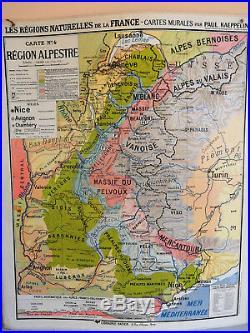 Carte Scolaire Hatier Régions Naturelles de la France Kaeppelin Bretagne Alpes
