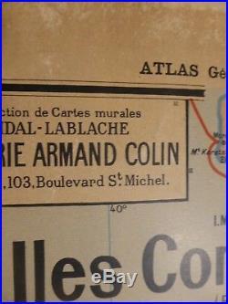 Carte Scolaire Vidal Lablache Indochine Madagascar 36 avant 1930