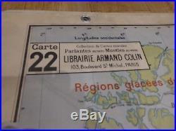 Carte Scolaire Vidal Lablache Planisphère Union Française 22
