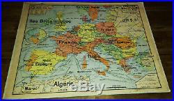 Carte Scolaire Vidal Lablache n° 13 Europe Politique Armand Colin école vintage