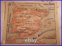 Carte Vidal LABLACHE MEZIERES N°31 ESPAGNE Librairie ARMAND COLIN