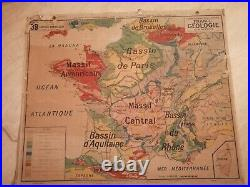 Carte Vidal LABLACHE MEZIERES N°39 FRANCE GEOLOGIE- Librairie ARMAND COLIN
