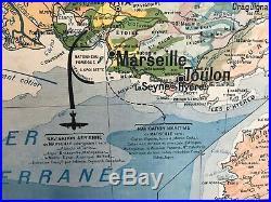 Carte affiche scolaire Hatier no Vidal Midi Méditerranéen Corse
