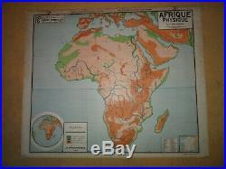 Carte affiche scolaire VIDAL LABLACHE AFRIQUE N° 16