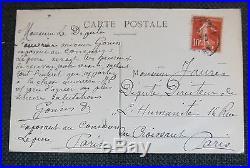 Carte postale autographe mineur Gonin au Concours Lépine adressée à JEAN JAURES