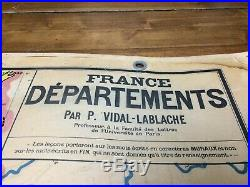 Carte scolaire N° 4 FRANCE DEPARTEMENTS