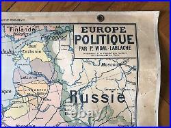 Carte scolaire Vidal Lablache n°13 Europe Politique