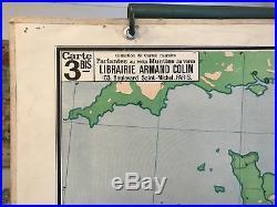 Carte scolaire Vidal Lablache n°3 France Relief du Sol