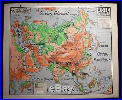 Carte scolaire ancienne Asie Vidal Lablache Old school map
