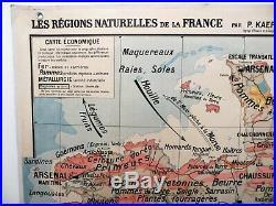 Carte scolaire ancienne Bretagne et Vendée Kaeppelin Hatier type Vidal Lablache