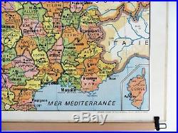 Carte scolaire ancienne France Départements / Cours d'Eau Vidal Lablache