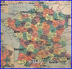 Carte scolaire ancienne France Départements Delagrave Gibert type Vidal Lablache